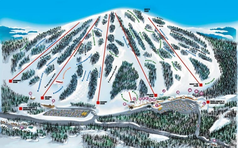 Giants Ridge Resort Piste / Trail Map