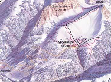 Giswil - Mörlialp Piste / Trail Map