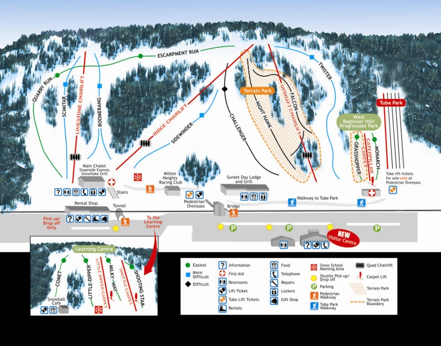 Glen Eden Ski Area Piste / Trail Map