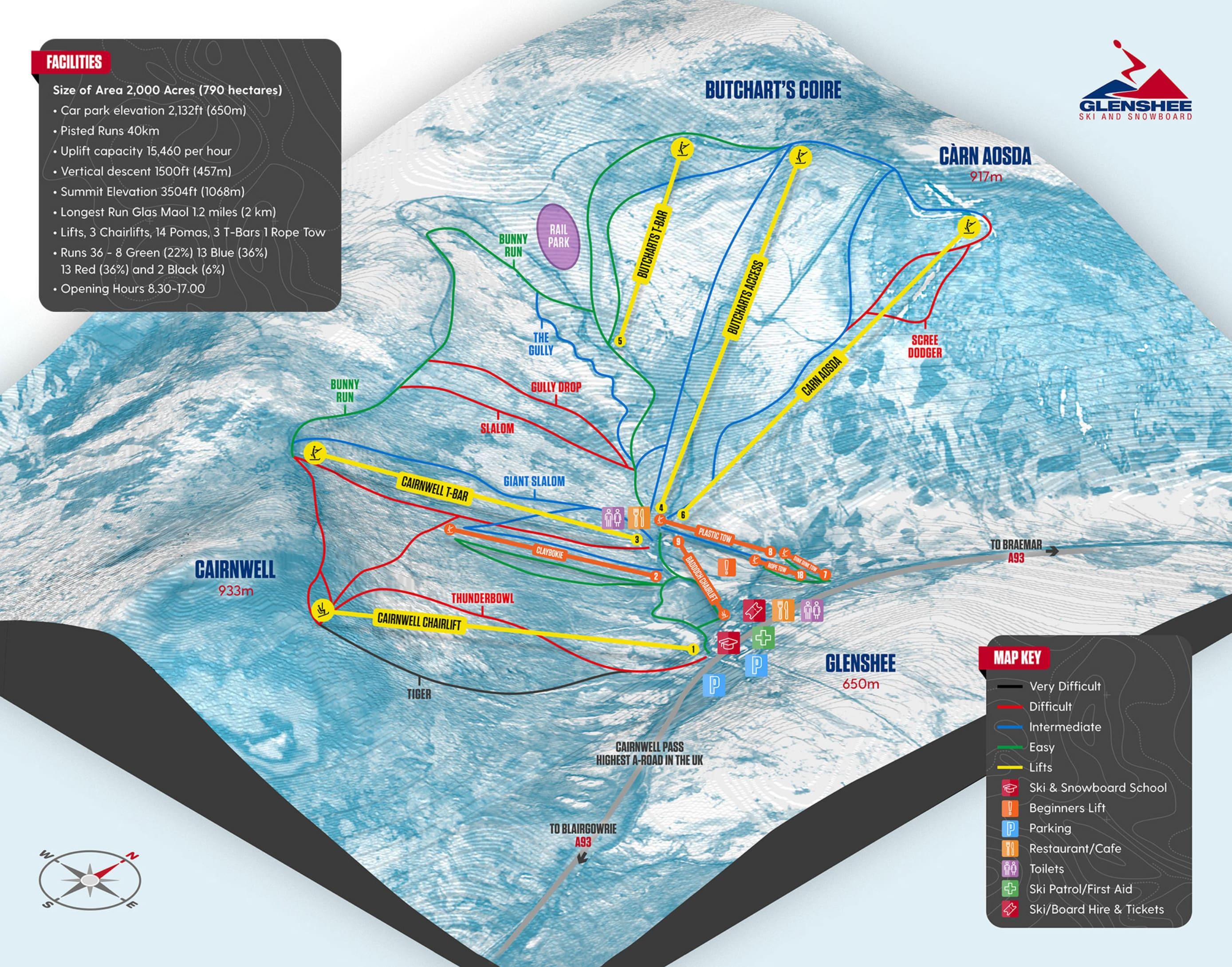 Glenshee Piste / Trail Map