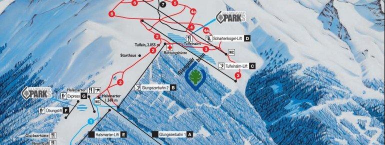 Glungezer Piste / Trail Map