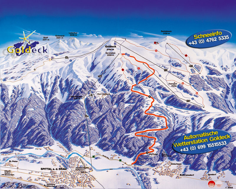 Goldeck Piste / Trail Map