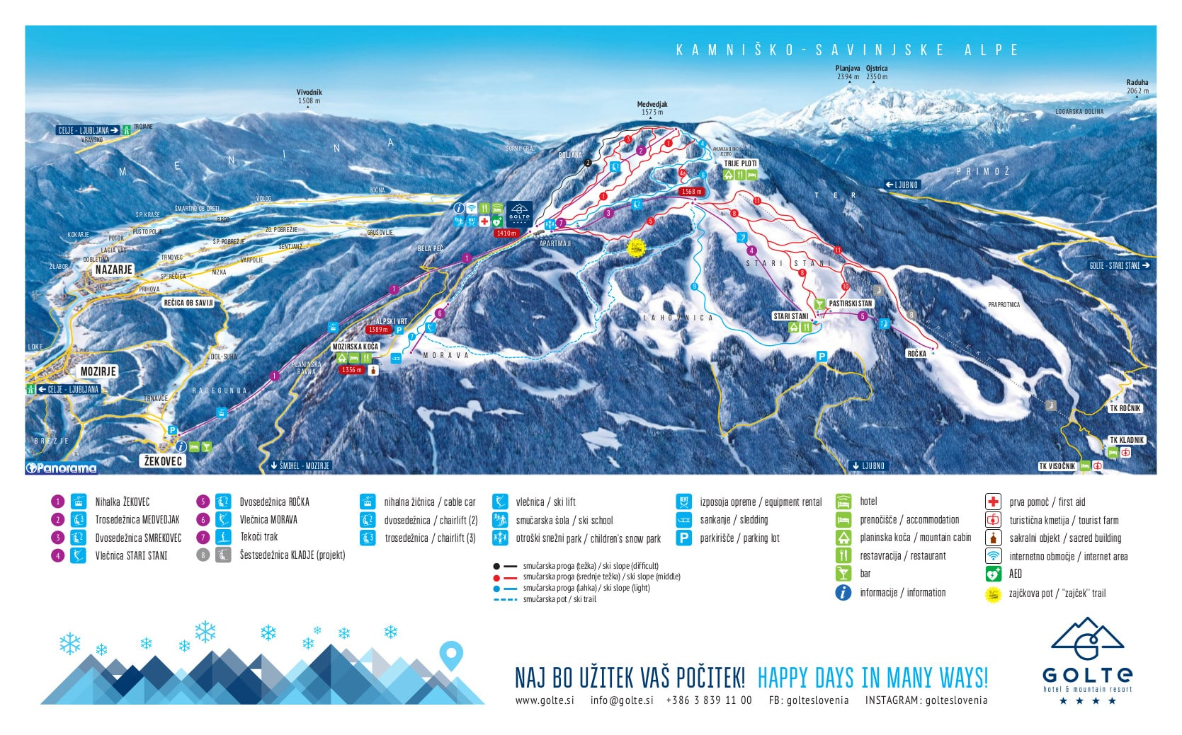 Golte Piste / Trail Map