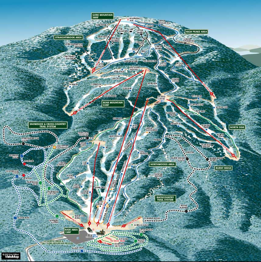 Gore Mountain Piste / Trail Map