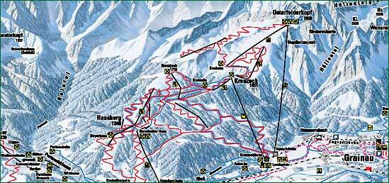 Grainau Piste / Trail Map
