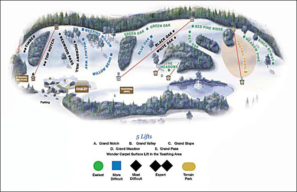 Grand Geneva Piste / Trail Map