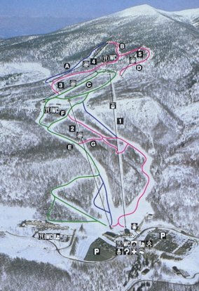 Grandeko Ski Resort Piste / Trail Map
