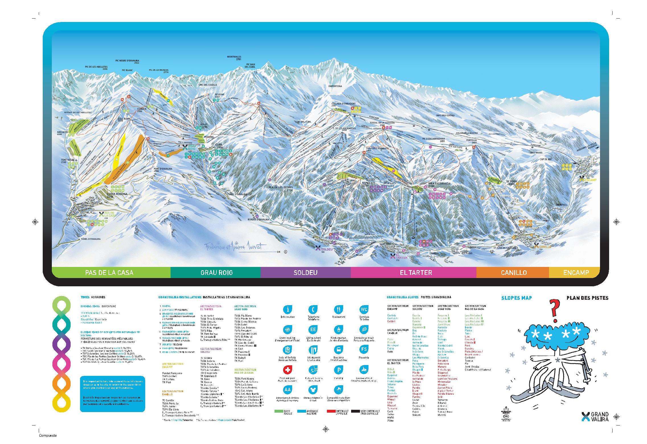 Grandvalira-Grau Roig Piste / Trail Map