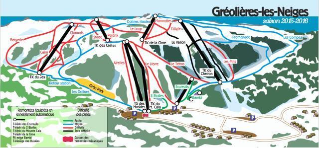 Gréolières Les Neiges Piste / Trail Map