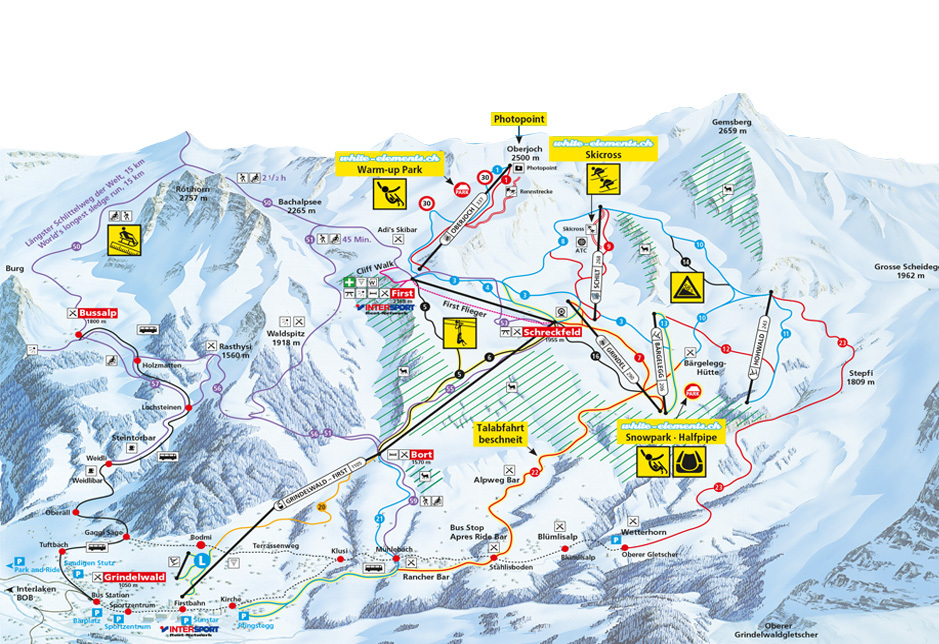 Grindelwald Piste Map Trail Map