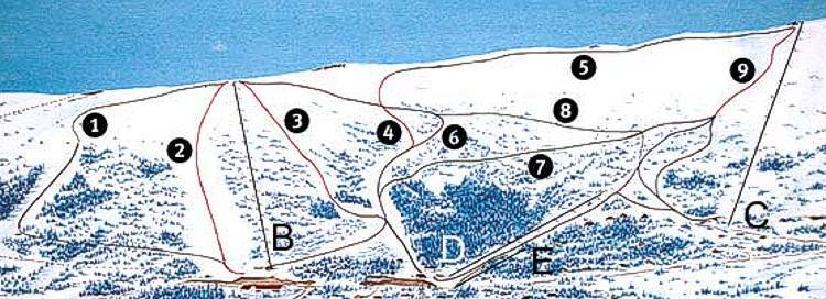 Grong Piste / Trail Map
