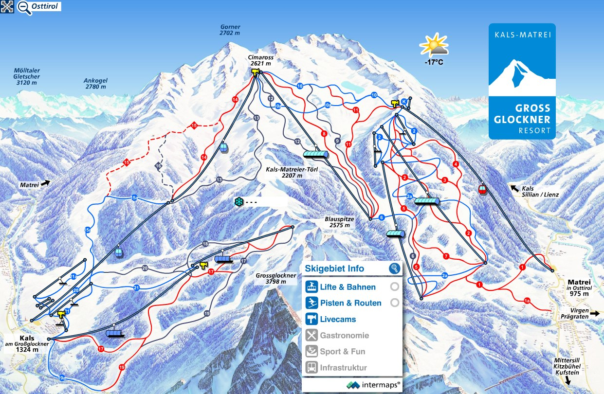 Grossglockner Resort (Kals und Matrei) Piste / Trail Map