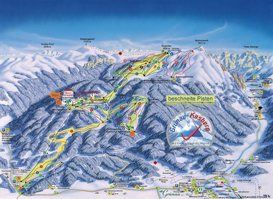 Grünau im Almtal Piste / Trail Map