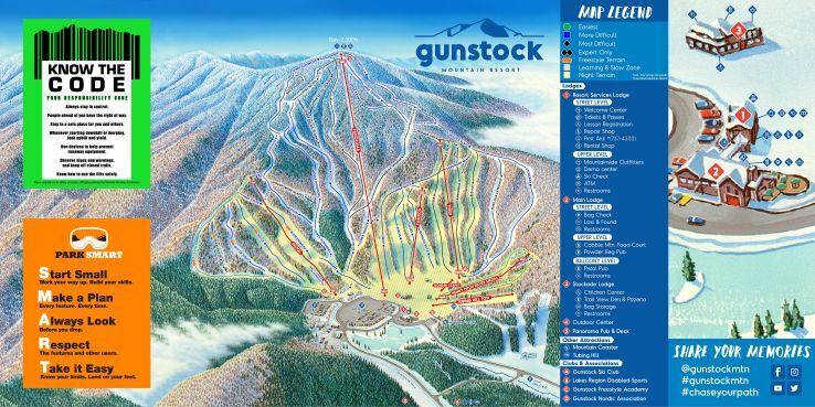Gunstock Piste / Trail Map