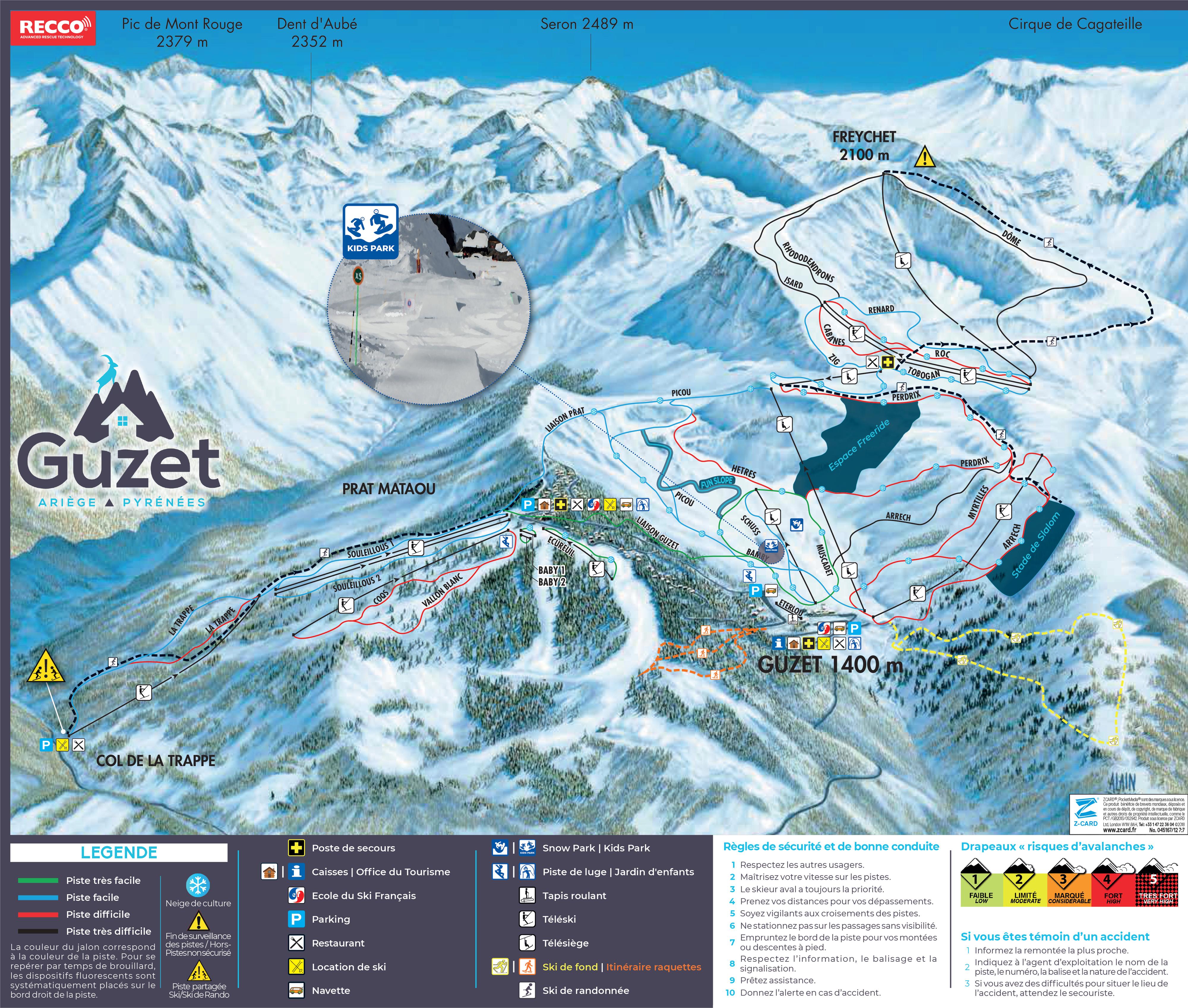 Guzet Piste / Trail Map
