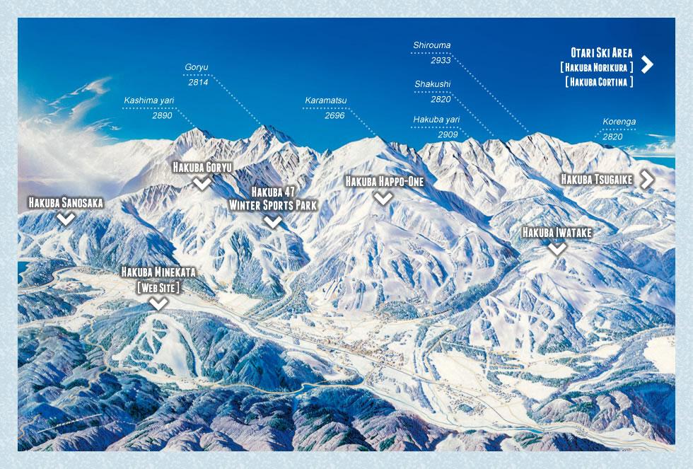 Hakuba Highland Piste / Trail Map