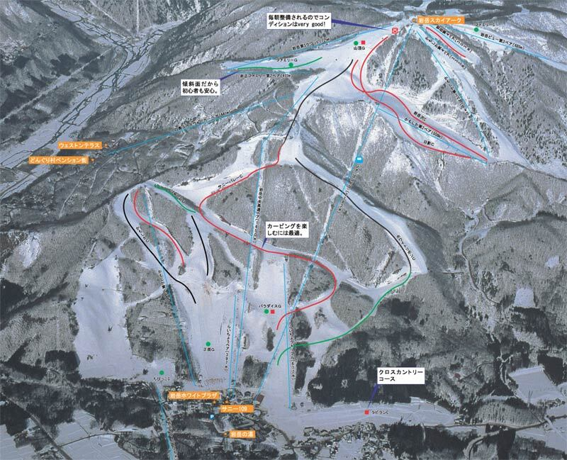 Hakuba Iwatake Piste / Trail Map