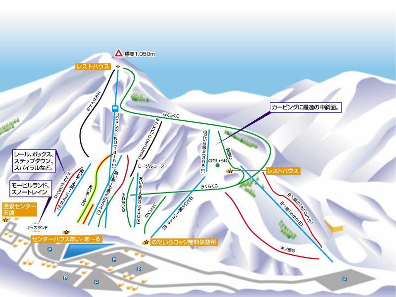 Hakusan Ichirino Onsen Piste Map / Trail Map