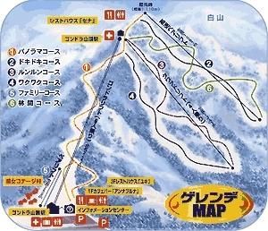 Hakusan Sena Kogen Piste / Trail Map