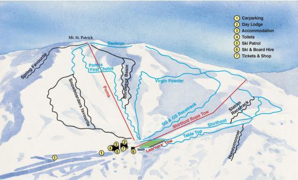 Hanmer Springs Ski Area Piste / Trail Map