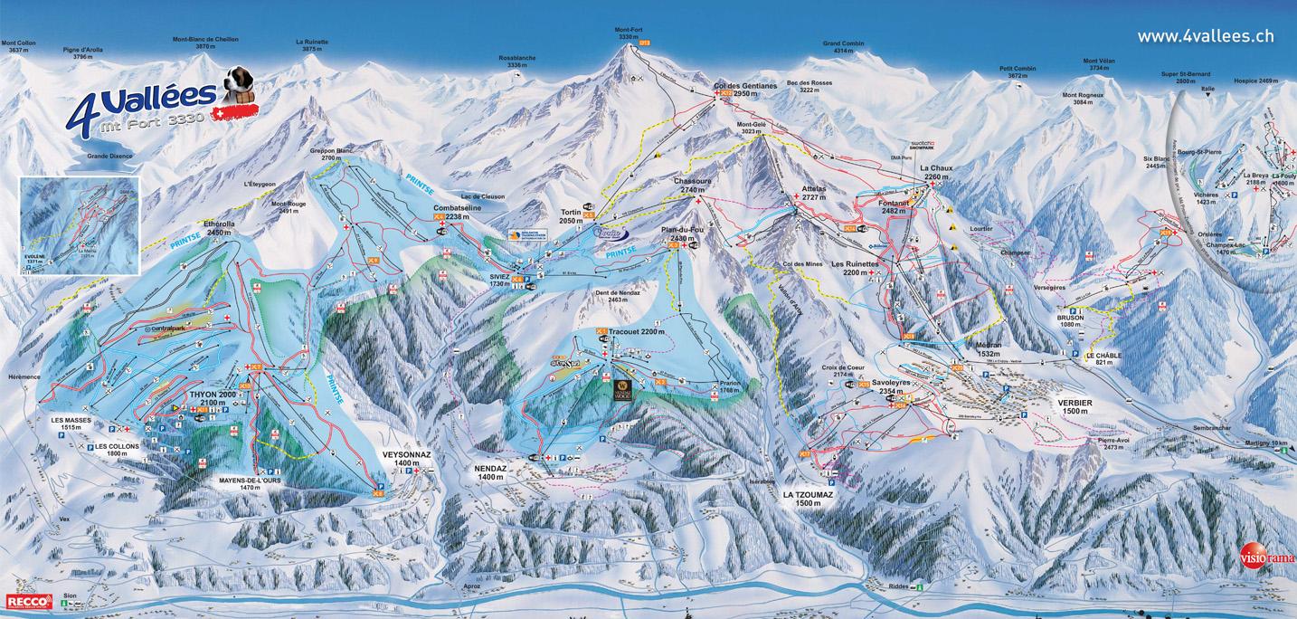 Haute Nendaz Piste / Trail Map
