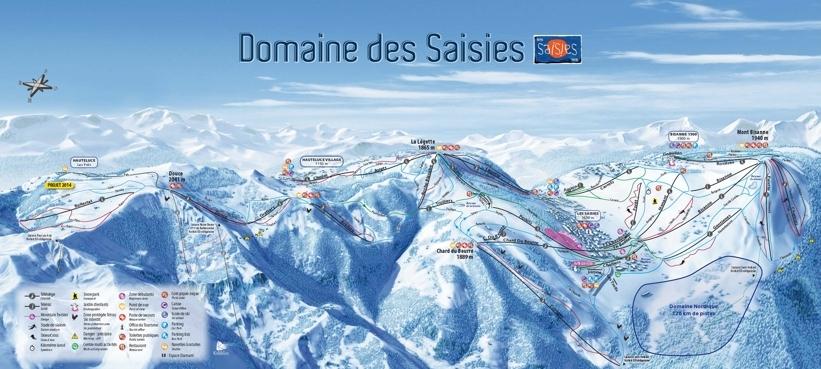 Hauteluce Val Joly Piste / Trail Map