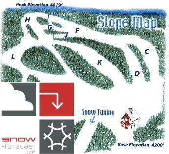 Hawksnest Piste / Trail Map