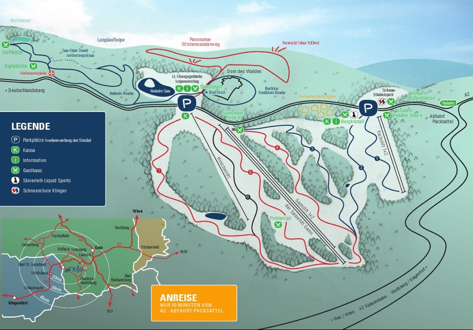 Hebalm am Packsattel Piste / Trail Map