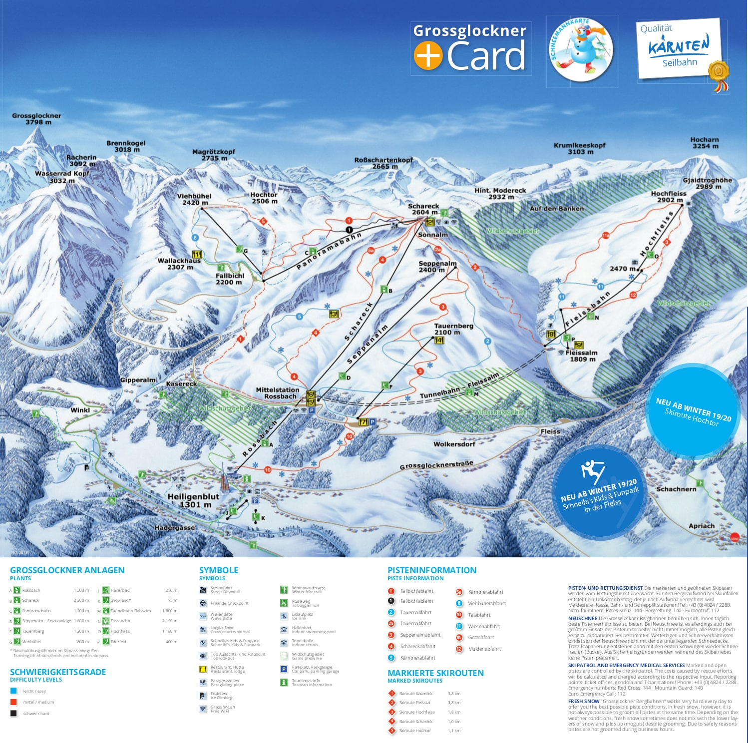 Heiligenblut Piste / Trail Map