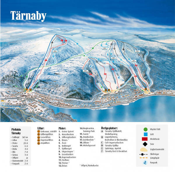 Hemavan and Tärnaby Piste / Trail Map