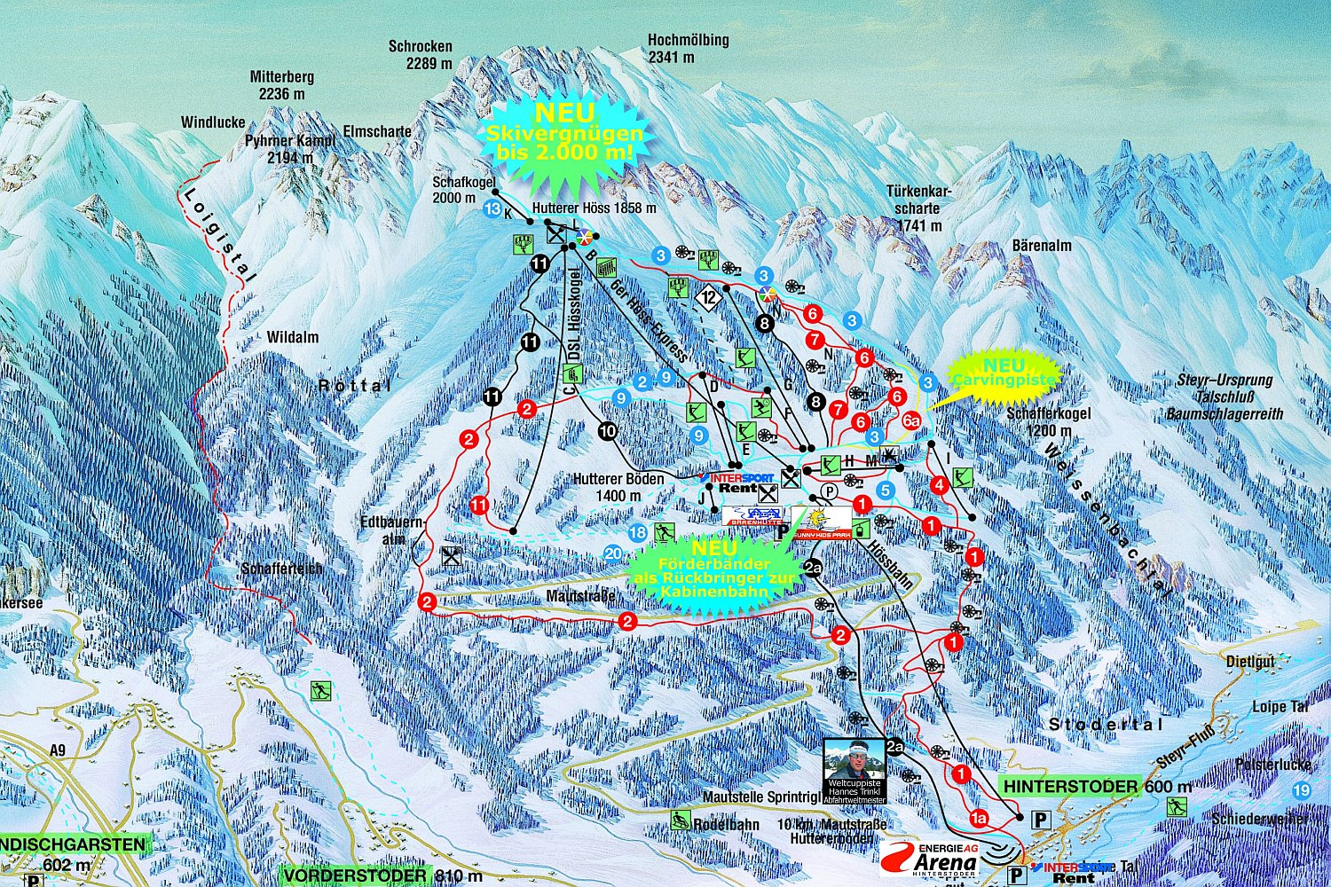Hinterstoder Piste / Trail Map