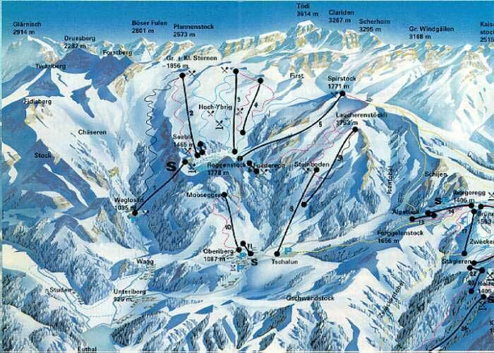 Hoch-Ybrig Piste / Trail Map