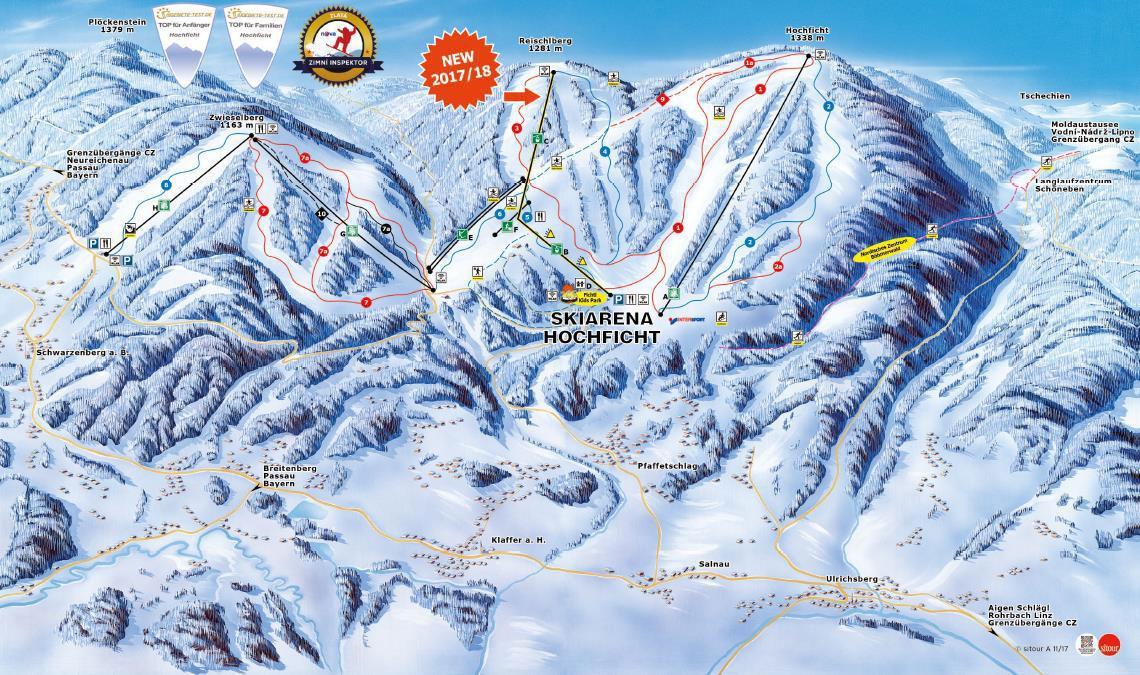 Hochficht-Schwarzenberg Piste / Trail Map