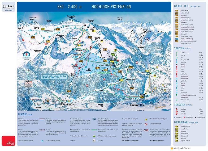 Hochjoch-Schruns Piste / Trail Map