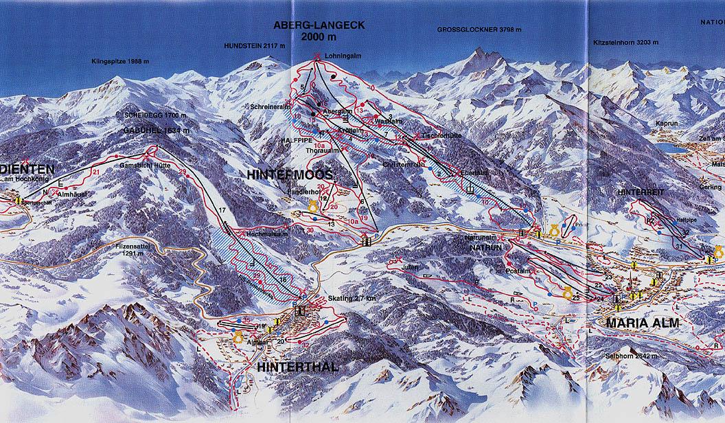 Hochkönig Piste / Trail Map
