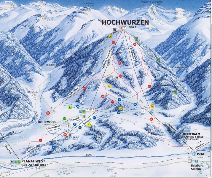 Hochwurzen Piste / Trail Map