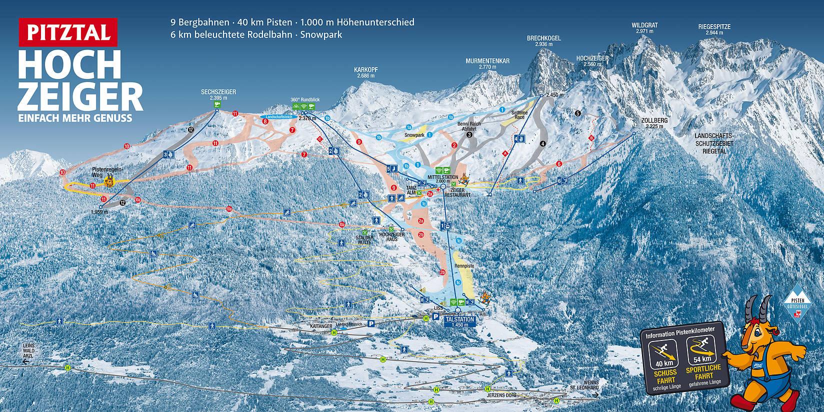 Hochzeiger Piste / Trail Map