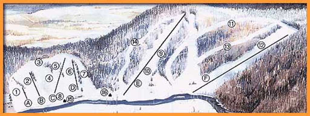 Holiday Mountain Piste / Trail Map