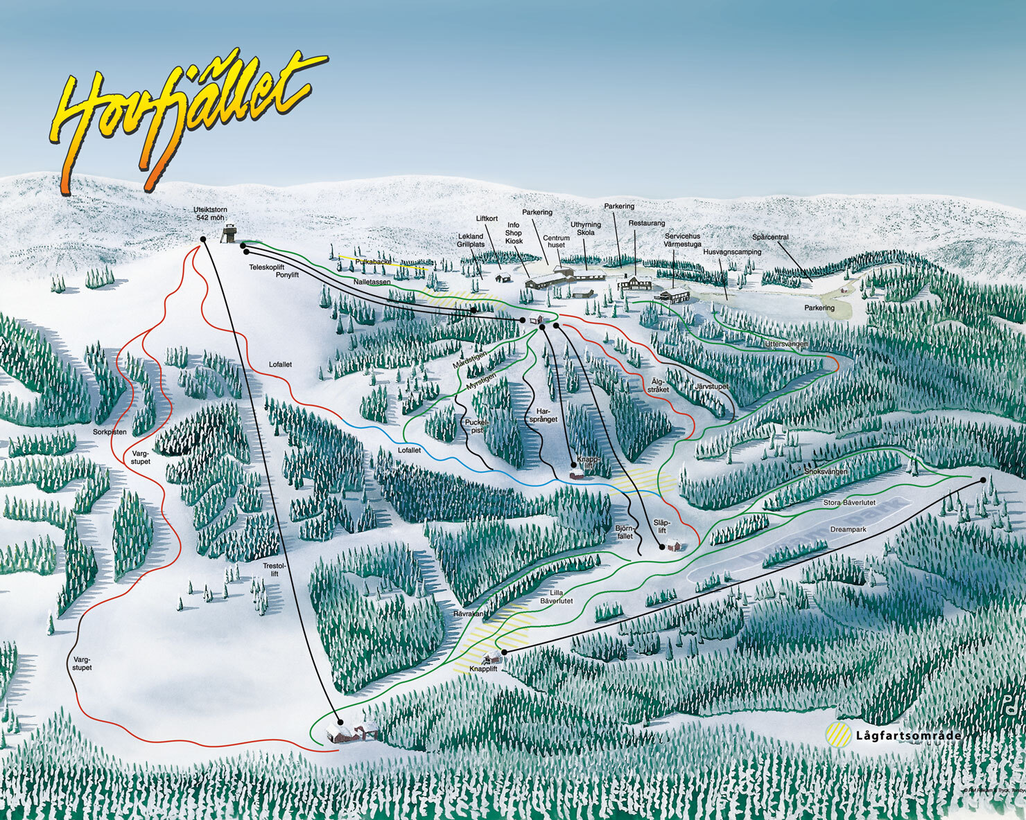 Hovfjället Piste / Trail Map