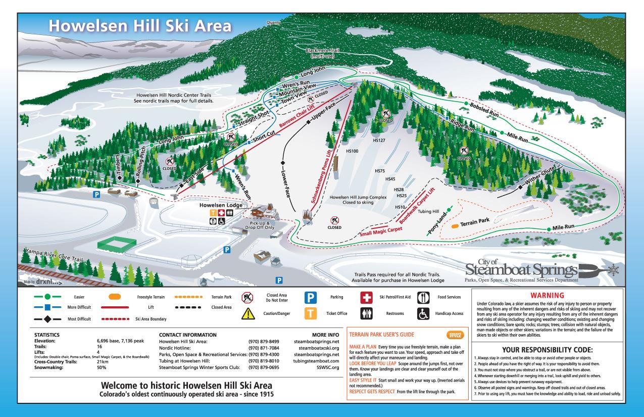 Howelsen Hill Piste / Trail Map