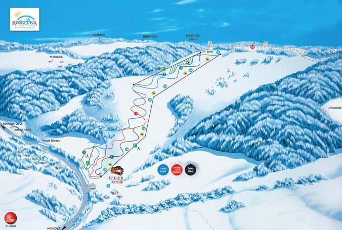 Hrinova/Kosutka Piste / Trail Map
