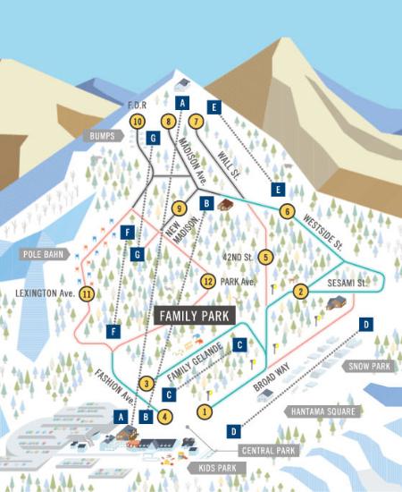Hunter Mountain Shiobara Piste / Trail Map