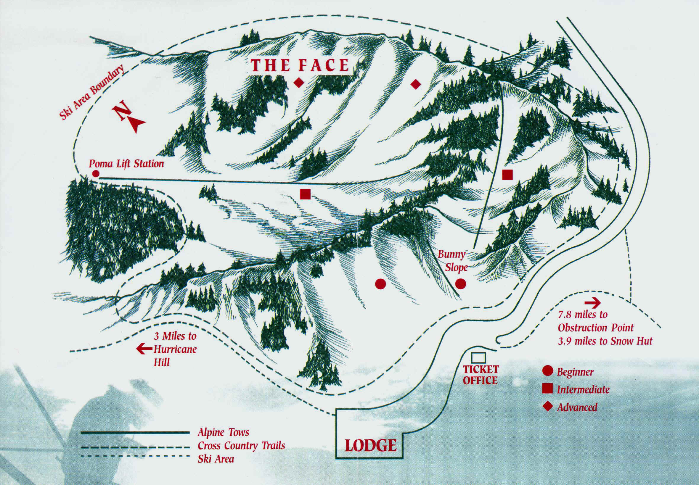 Hurricane Ridge Piste / Trail Map