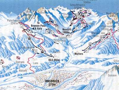 Igls Piste / Trail Map