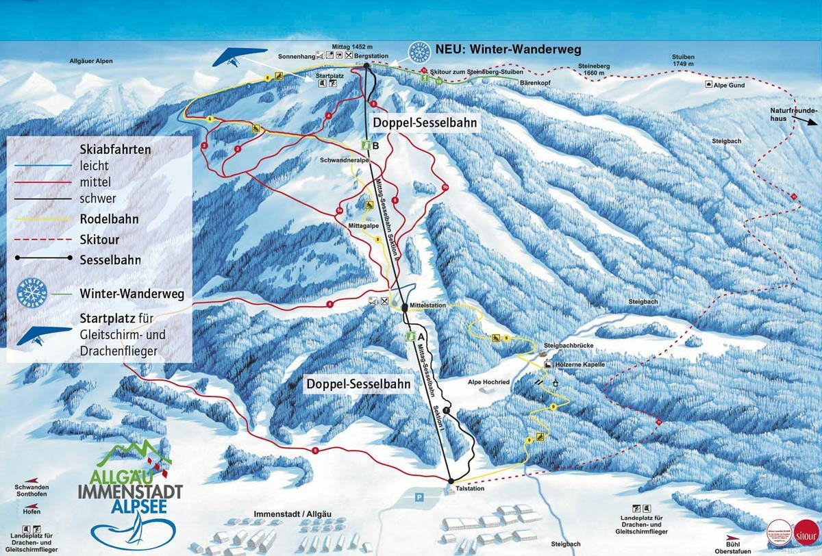 Immenstadt Piste / Trail Map