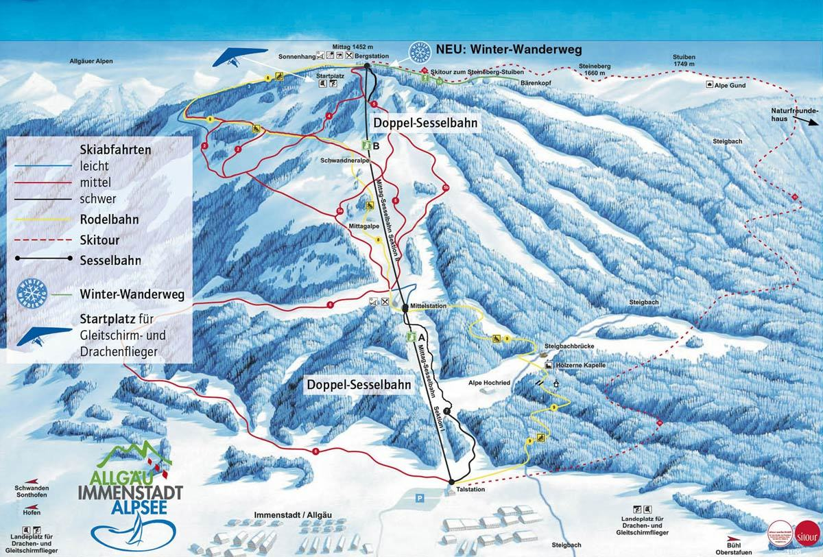 Immenstadt Piste / Trail Map
