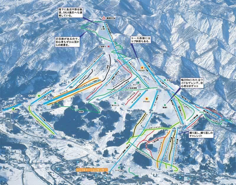 Ishiuchi Maruyama Piste / Trail Map