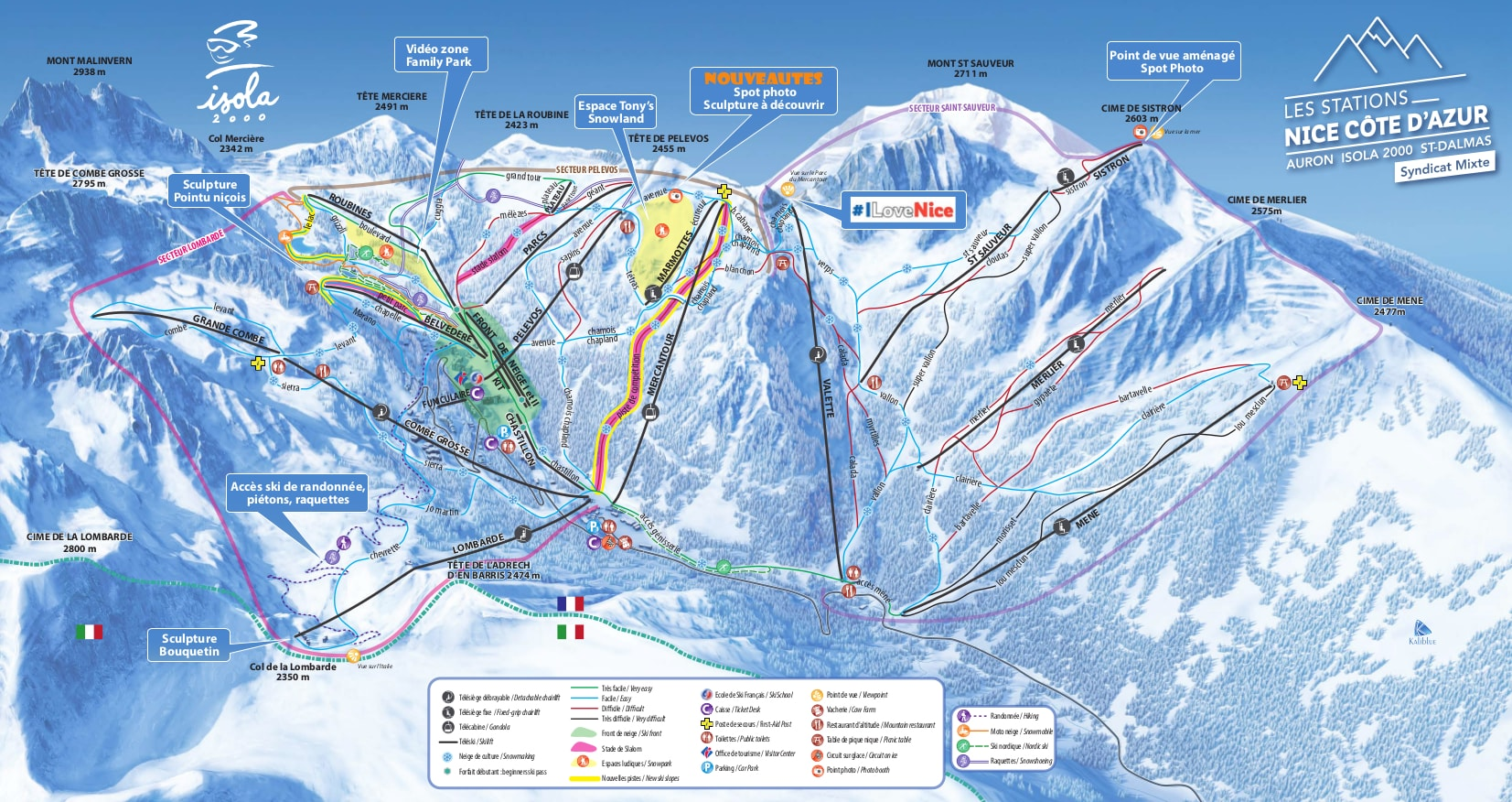 Isola 2000 Piste / Trail Map