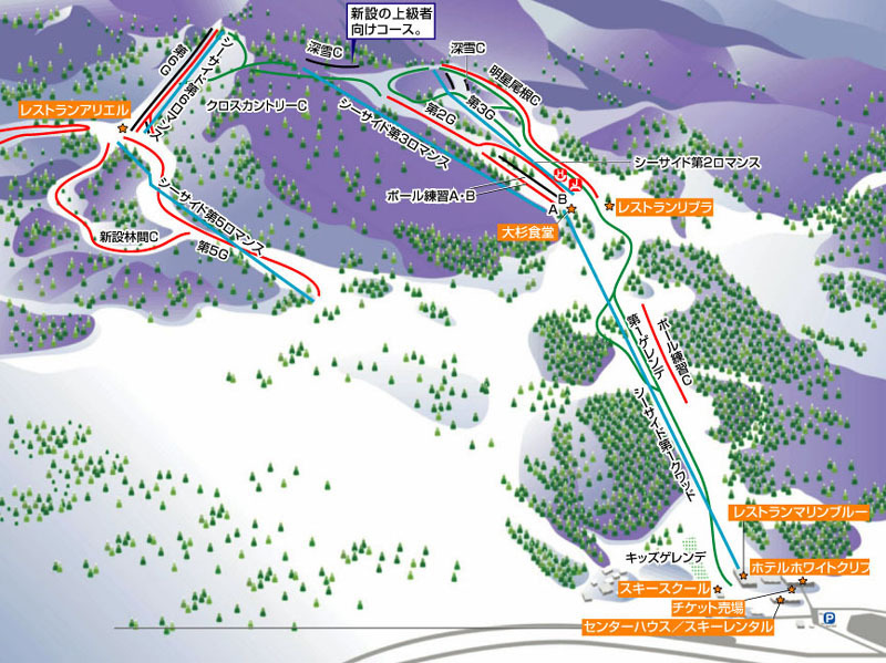 Itoigawa Seaside Valley Piste / Trail Map