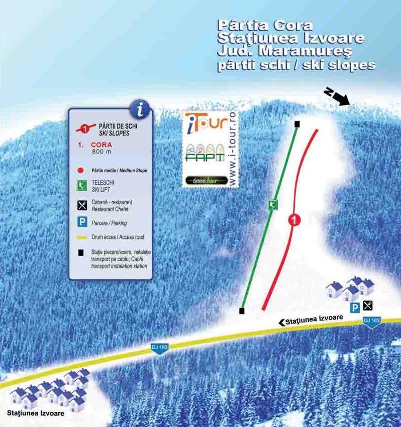 Izvoare Piste / Trail Map